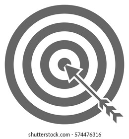 Vector Illustration of Target in Grey Icon