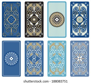 Vector illustration for Tarot cards. Vector template for playing cards