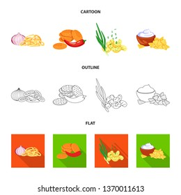 Vector illustration of taste and seasonin logo. Collection of taste and organic   stock symbol for web.