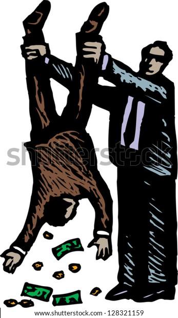 Vector illustration of a tax inspector