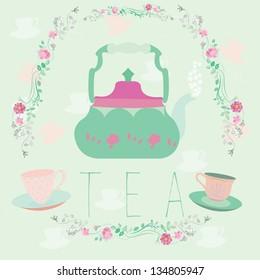 Vector illustration of tea