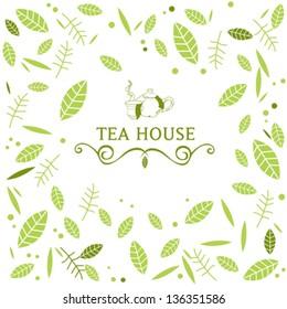 Vector illustration. Tea House.