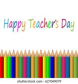 Vector Illustration of Teachers Day Holidays for Design, Website, Background, Banner. Greeting card