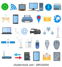 vector illustration of technology icon collection