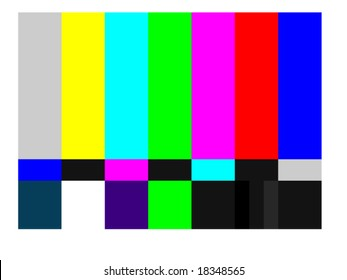 vector illustration of television color bars