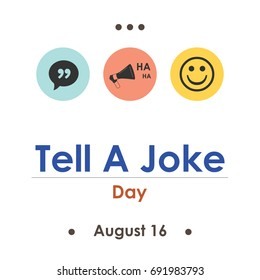 vector illustration for tell a joke calendar page day in August