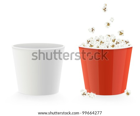 Vector illustration template cardboard popcorn cups stock vector vector illustration of template cardboard popcorn cups maxwellsz
