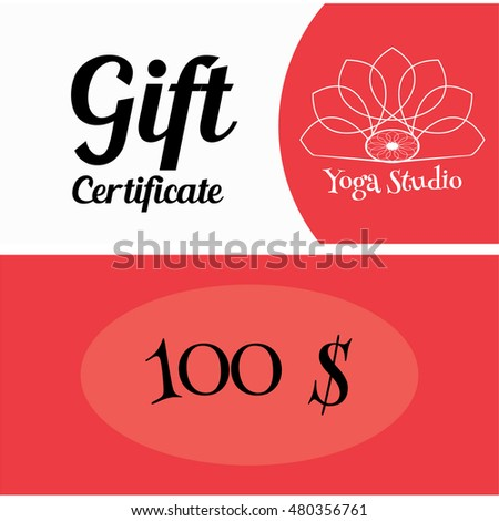 Vector Illustration Template Gift Card Background Stock Vector