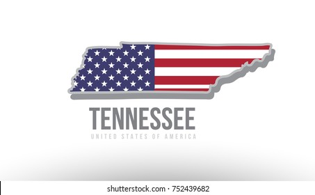 Tennessee Map With Counties Images Stock Photos Vectors - Us-map-logo