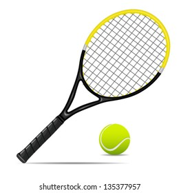 vector illustration of tennis items