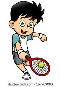 Vector illustration of Tennis Player