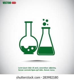 Vector illustration Test tube vector icon
