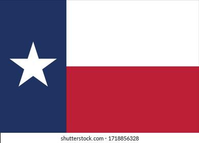 vector illustration of Texas flag