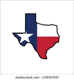 Vector illustration of texas, suitable for your designs needs