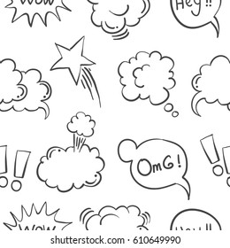 Vector illustration of text balloon collection