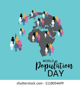 Vector illustration of a Text Space Background for World Population Day.