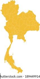 vector illustration of Thailand map