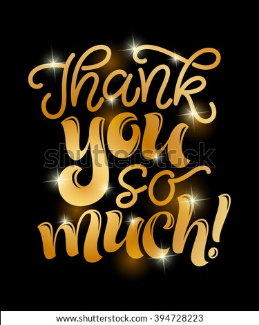 vector illustration thank you much lettering stock vector royalty