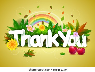 vector illustration of Thank You wallpaper background