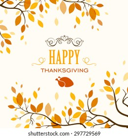 Vector Illustration of a Thanksgiving Design