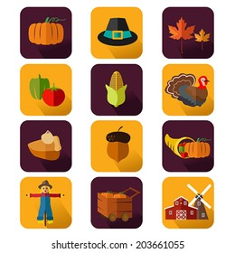 A vector illustration of thanksgiving icon sets