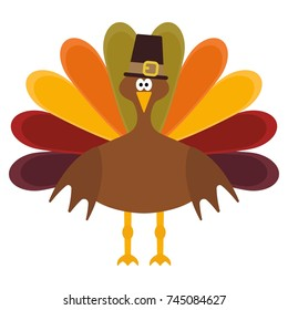 Vector illustration of a thanksgiving turkey