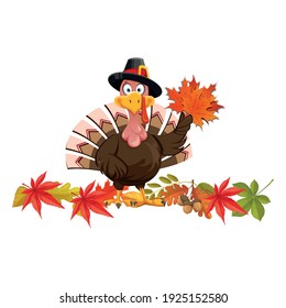 Vector illustration of a thanksgiving turkey premium vector. Isolated on white background.