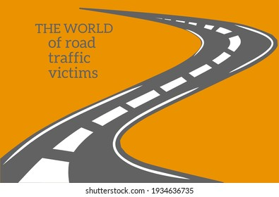 Vector illustration of the theme of commemoration of the world anniversary of road traffic victims in November.