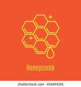 Vector illustration of thin line icon honeycomb