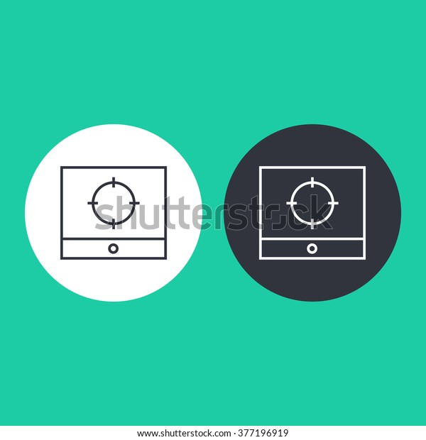 Vector illustration of thin line screenshot icon . Can be used as company logo, badge, web interface and mobile application button, pictogram