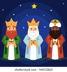 Vector illustration of the Three Wise Men.
