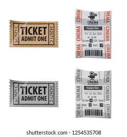 Vector illustration of ticket and admission logo. Set of ticket and event stock symbol for web.