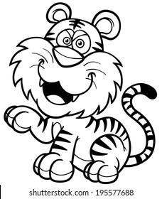 Free Printable Tiger Coloring Pages For Kids 27 Tiger Coloring ... | 280x228