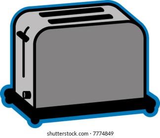 Vector Illustration Of Toaster