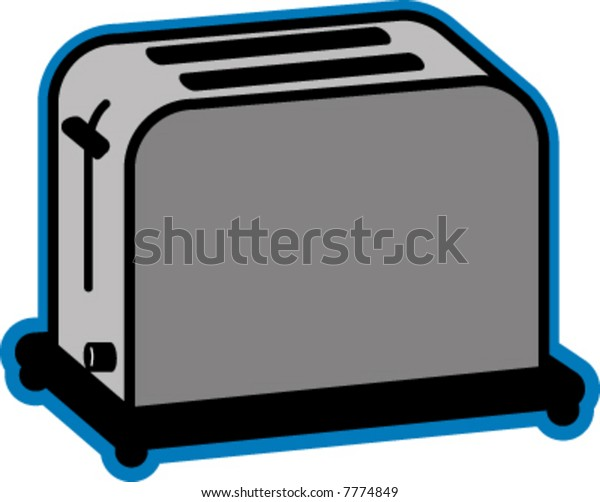 Vector Illustration Of Toaster