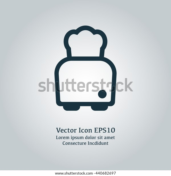 Vector illustration of toaster icon