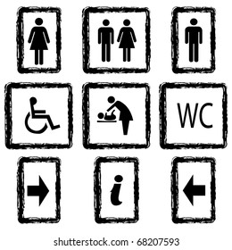 Vector illustration toilette sign