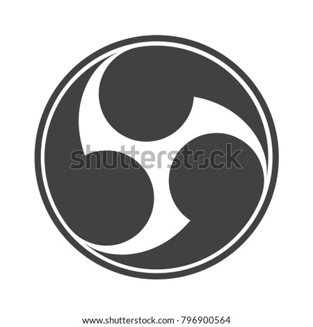 Vector Illustration Tomoe Tomowe Japanese Symbol Stock Vector