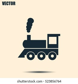 Vector illustration of a tooth of a steam locomotive