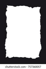 Vector illustration of a torn paper frame
