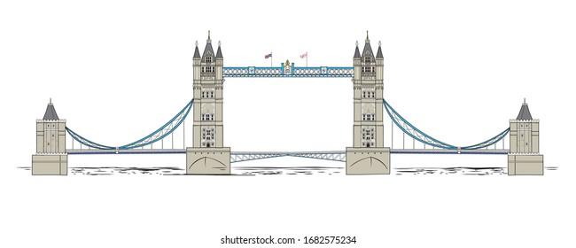 Vector illustration of the Tower Bridge