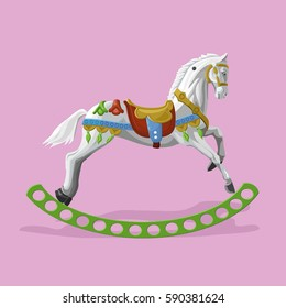Vector illustration of toy rocking horse