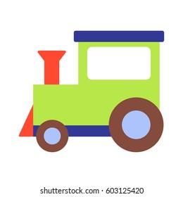 Vector illustration of a toy train locomotive