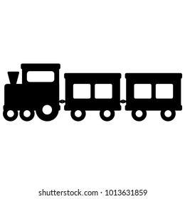 Vector illustration of a toy train silhouette