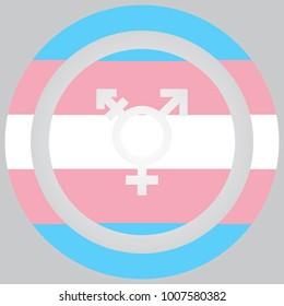 Vector illustration. Transgender symbol in transgender color.
