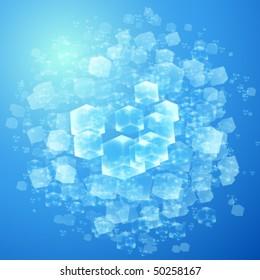 vector illustration of transparent cubes