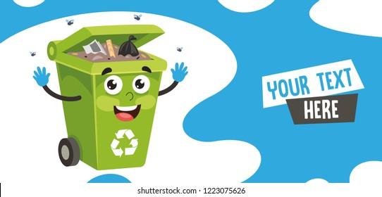 Vector Illustration Of Trash Bin
