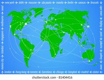 Vector illustration travel world map