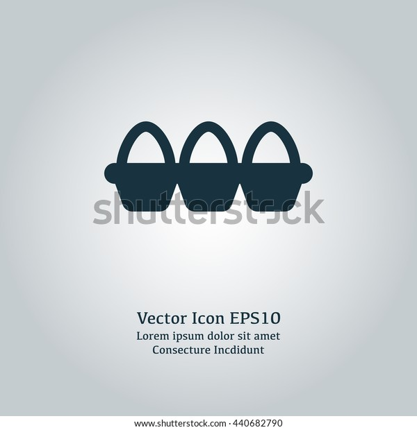 Vector illustration of tray of eggs icon