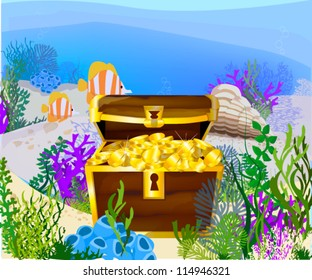 Vector Illustration of treasure